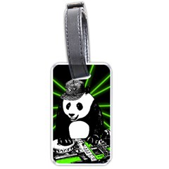 Deejay Panda Luggage Tags (two Sides) by Valentinaart