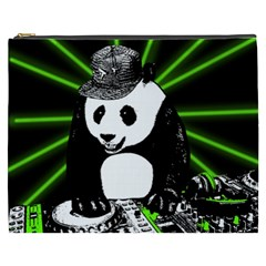 Deejay Panda Cosmetic Bag (xxxl)  by Valentinaart