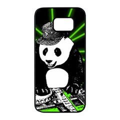 Deejay Panda Samsung Galaxy S7 Edge Black Seamless Case by Valentinaart