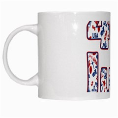 4th Of July Independence Day White Mugs by Valentinaart