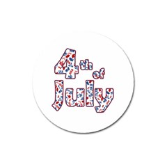 4th Of July Independence Day Magnet 3  (round) by Valentinaart