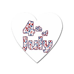 4th Of July Independence Day Heart Magnet by Valentinaart