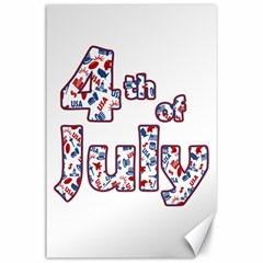 4th Of July Independence Day Canvas 24  X 36  by Valentinaart
