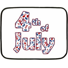 4th Of July Independence Day Double Sided Fleece Blanket (mini)  by Valentinaart