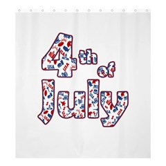 4th Of July Independence Day Shower Curtain 66  X 72  (large)  by Valentinaart