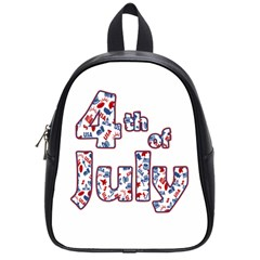 4th Of July Independence Day School Bags (small)  by Valentinaart