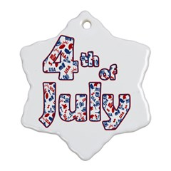 4th Of July Independence Day Snowflake Ornament (two Sides) by Valentinaart