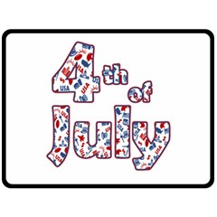 4th Of July Independence Day Double Sided Fleece Blanket (large)  by Valentinaart