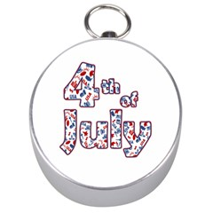 4th Of July Independence Day Silver Compasses by Valentinaart