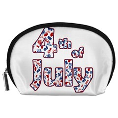 4th Of July Independence Day Accessory Pouches (large)  by Valentinaart