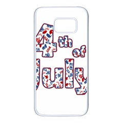 4th Of July Independence Day Samsung Galaxy S7 White Seamless Case by Valentinaart