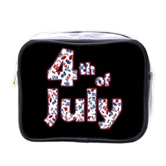 4th Of July Independence Day Mini Toiletries Bags by Valentinaart
