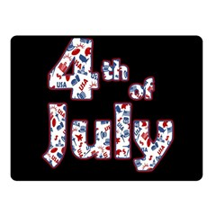 4th Of July Independence Day Fleece Blanket (small) by Valentinaart