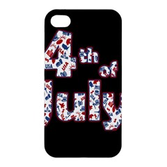 4th Of July Independence Day Apple Iphone 4/4s Hardshell Case by Valentinaart