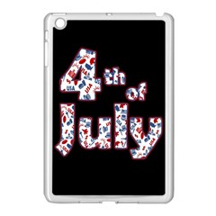 4th Of July Independence Day Apple Ipad Mini Case (white) by Valentinaart