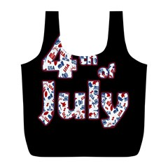 4th Of July Independence Day Full Print Recycle Bags (l)  by Valentinaart