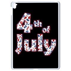 4th Of July Independence Day Apple Ipad Pro 9 7   White Seamless Case by Valentinaart