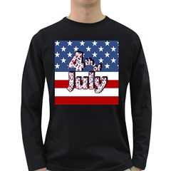 4th Of July Independence Day Long Sleeve Dark T Shirts by Valentinaart