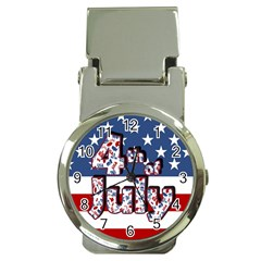 4th Of July Independence Day Money Clip Watches by Valentinaart