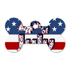 4th Of July Independence Day Dog Tag Bone (two Sides) by Valentinaart
