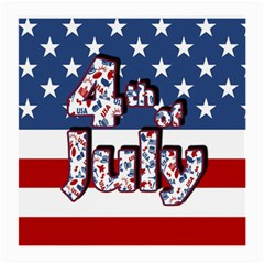 4th Of July Independence Day Medium Glasses Cloth by Valentinaart