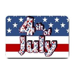 4th Of July Independence Day Small Doormat  by Valentinaart