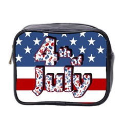 4th Of July Independence Day Mini Toiletries Bag 2 Side by Valentinaart