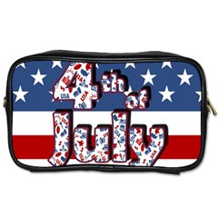 4th Of July Independence Day Toiletries Bags 2 Side by Valentinaart
