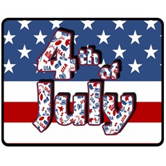 4th Of July Independence Day Fleece Blanket (medium)  by Valentinaart