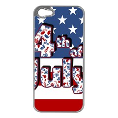 4th Of July Independence Day Apple Iphone 5 Case (silver) by Valentinaart
