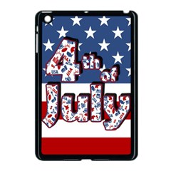 4th Of July Independence Day Apple Ipad Mini Case (black) by Valentinaart