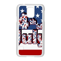 4th Of July Independence Day Samsung Galaxy S5 Case (white) by Valentinaart