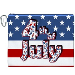 4th Of July Independence Day Canvas Cosmetic Bag (xxxl) by Valentinaart
