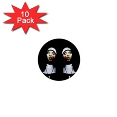 Horror Nuns 1  Mini Buttons (10 Pack)  by Valentinaart