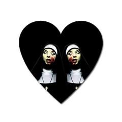 Horror Nuns Heart Magnet by Valentinaart