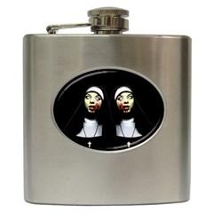 Horror Nuns Hip Flask (6 Oz) by Valentinaart