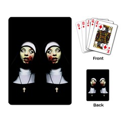 Horror Nuns Playing Card by Valentinaart