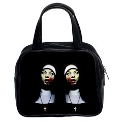 Horror Nuns Classic Handbags (2 Sides) by Valentinaart