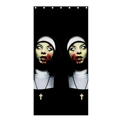 Horror Nuns Shower Curtain 36  X 72  (stall)  by Valentinaart