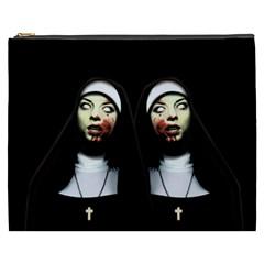 Horror Nuns Cosmetic Bag (xxxl)  by Valentinaart