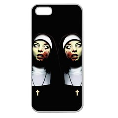 Horror Nuns Apple Seamless Iphone 5 Case (clear) by Valentinaart