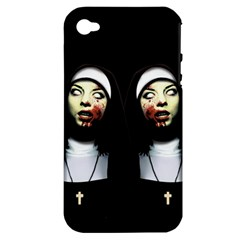 Horror Nuns Apple Iphone 4/4s Hardshell Case (pc+silicone) by Valentinaart