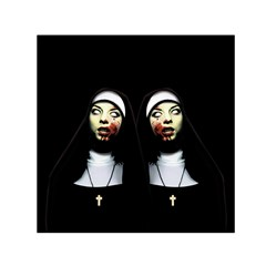 Horror Nuns Small Satin Scarf (square) by Valentinaart
