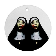 Horror Nuns Ornament (round) by Valentinaart