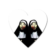 Horror Nuns Heart Magnet by Valentinaart