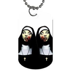 Horror Nuns Dog Tag (two Sides) by Valentinaart