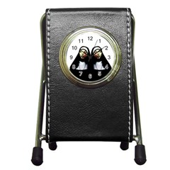 Horror Nuns Pen Holder Desk Clocks by Valentinaart