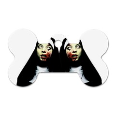 Horror Nuns Dog Tag Bone (two Sides) by Valentinaart