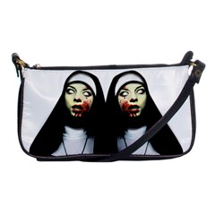 Horror Nuns Shoulder Clutch Bags by Valentinaart