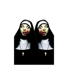 Horror Nuns Shower Curtain 48  X 72  (small)  by Valentinaart